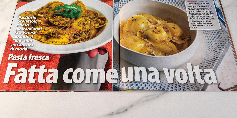 La nostra pasta fresca sulla rivista… Novella Cucina di luglio/agosto 2020
