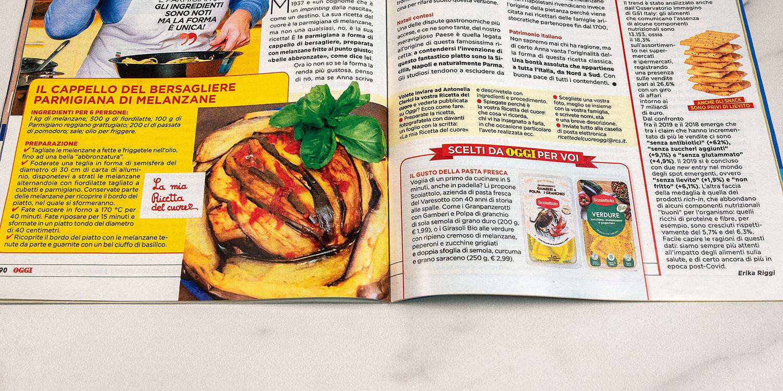 La nostra pasta fresca sulla rivista… Oggi N°30 del 30/7/2020