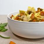 Raviolini al Vitello con carote e funghi