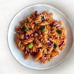 Fusilli BIO 100% farina di lenticchie: pasta con farina di legumi alla crema di broccoli e radicchio rosso al forno croccante